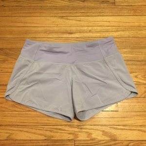 Lululemon light purple running shorts - sz 6